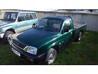 mitsubishi L200 pick up, 2000-w reg, 2.5 diesel, 171,000 miles, mot august 2017