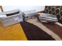 2*Stainless steel chafing dishes used couple of times in excellent condition can deliver locally