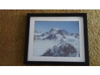 Framed Picture of New Zealand Mountains