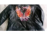 Leather bike jacket