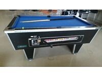 6ft x 3ft Pool Table - Coin Operated. Solid Slate.