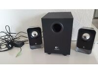 Logitech LS21 desktop speakers
