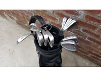 Set of Maple Leaf Left Handed Irons and Bag