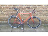 Foffa Single Speed Bike - Brick Lane Bike handlebar, Brookes handle tape, specialized gel saddle