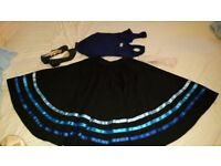 Bundle of ballet clothes & shoes incl. RAD character dance skirt with blue ribbons