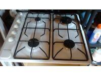 White enamel gas hob excellent condition working kitchen