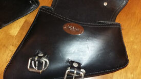 LaRosa design quality black leather saddlebags(left and right side). Excellent condition.
