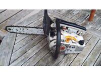 Stihl top handle petrol chainsaw arborists chainsaw