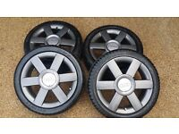 Audi A2 Alloy Wheels - Rare GRAY Alloys - With very good condition Tyres