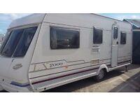 Touring caravan lunar lx2000 5 berth 1999