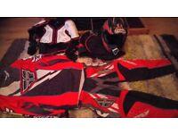 Kids helmet, clothes, body armour accessories