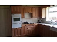 Complete solid wood kitchen for sale.