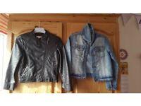 Girls Leather Jacket & Denim Jacket (Age 7 Years)