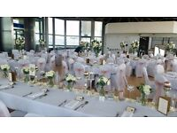Venue Dressing - Chair covers, Centerpieces, Backdrop, 4ft LOVE etc