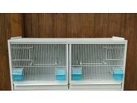 Metal breeding cages.