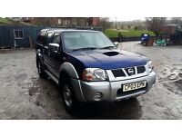 breaking blue nissan navara 2.5 di 4x4 manual parts spares