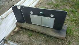 Large oven, hob extractor.