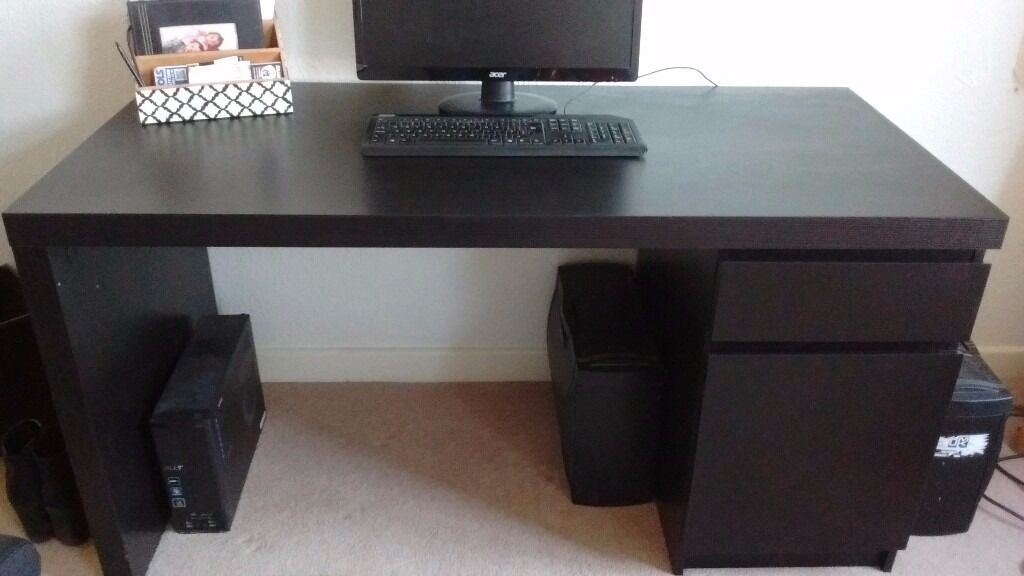 ikea malm desk and office chair excellent condition. Black Bedroom Furniture Sets. Home Design Ideas