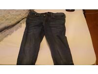 River Island Blue Jeans. Men's size 32r (32/32) SLIM FIT