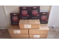 JOBLOT OF A 36 NIGHT AT THE AWARDS INVITATIONS