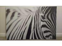 Ikea zebra canvas