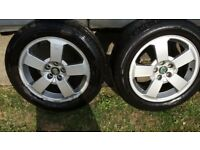 Skoda octavia alloy wheels and tyres also fit audi volkswagan seat etc