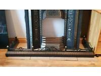CAST IRON BESPOKE FENDER FOR FIREPLACE/ HEARTH