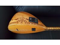 Turkish semi acoustic saz with schaller pickup