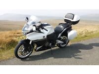 Honda VFR1200 F GT. Beautiful gleaming white & black. Excellent condition. All extras and luggage.