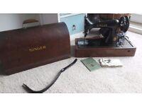 Vintage singer sewing machine with knee control