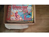 80 super spider man comic books for sale.looking to sell the altogether. There from the 1970s ......