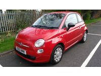 Fiat 500 1.2 Pop 2012 Red with two tone cream/red interior, good service history and 12M mot