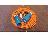 Brand new electric cable for caravan