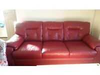 red leather sofa very good condition