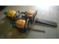 3x Petrol hedge trimmers spares repairs