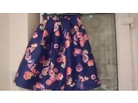 Loveniche navy floral bow skirt size 8