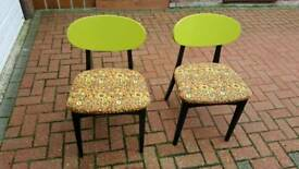 Retro dining chairs (2)