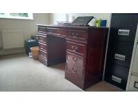 Antique Style Directors Reproduction Wooden Desk
