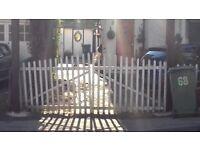 Attractive garden gate
