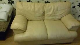 Cream 2 seater leather