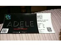 Adele ticket,Wednesday 28th june