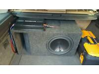 Reduced price!!!! Alpine subwoofer with custom built box and amp