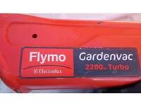 Flymo GardenVac 2200 W Electric Garden Blower Vacuum - Red, Black