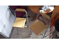 Two Fold Out Breakfast Bar Stools £20