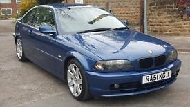 2001 BMW 318 CI COUPE ... MOT SEPT 2017 .... FULL LEATHER