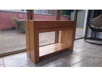 oak console table from The Store