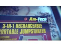 AM TECH 3 in 1 RECHARGEABLE PORTABLE JUMPSTARTER