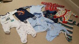 Newborn first size sleepsuits bundle