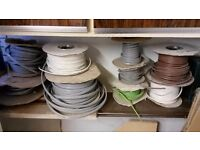 Assortment of electrical wires.