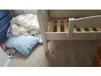 Child Princess Bed, running Machine, silver teapot and jugs
